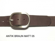 Belt with nickel satin finish buckle, 4cm wide, nickel-free