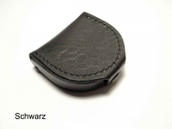 Hardened leather coin pouch