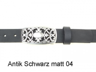 Belt with elegant silver coloured nickel-free buckle