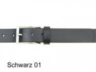 Belt with elegant, simple silver satin coloured buckle, nickel-free