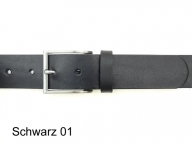 Belt with simple, elegant, matt silver coloured buckle, 4cm, nickel-free