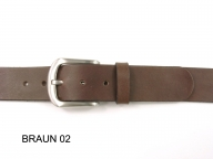 Belt with silver coloured satin and gloss buckle, 4cm wide