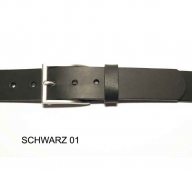 Belt with simple matt silver coloured buckle, 3cm wide - 1