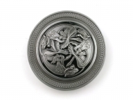 Celtic buckle, original Dragon Design, with celtic animal design