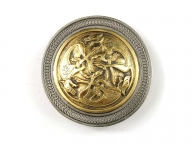 Celtic buckle in silver coloured/gilt finish with celtic animal design