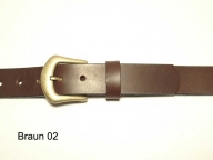 Belt with antique brass coloured buckle, 3cm wide, nickel-free
