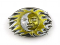 Buckle with sun/moon design, original Dragon Design