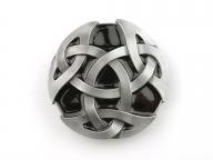 Celtic knot buckle, original Dragon Design, silver coloured/black finish
