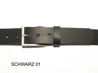 Belt with nickel, satin finish buckle, 3.5 cm wide - 1