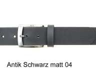 Mens belt with chic silver coloured satin finish buckle, 4cm wide