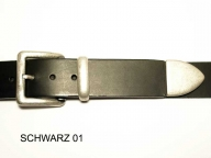 Belt with antique silver coloured buckle set, 4cm wide
