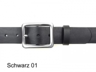 Belt with nickel-free silver-plated rectangular shaped buckle in 4cm width