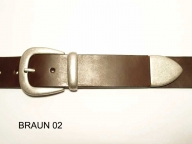 Belt with antique silver coloured buckle set, 4cm wide, nickel-free - 1
