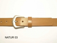Belt with antique silver coloured buckle, 3cm wide, nickel-free