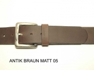 Belt with antique silver coloured buckle, 4 cm wide - 1