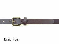 2cm wide leather belt with small solid brass buckle