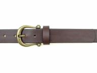 Ledergürtel mit altmessingfarbiger Schnalle in 3 cm Breite