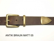 Belt with antique brass coloured 3 piece buckle set, 3cm wide, nickelfree