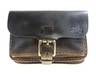 Trendy leather belt bag, vintage style