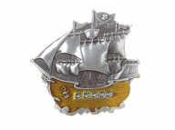 Belt buckle pirate ship