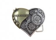Heart belt buckle steam punk