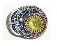 Belt buckle sun moon and stars