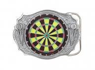 Belt buckle dart board
