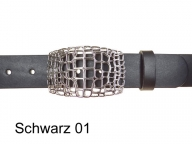 Belt with exclusive filigree 3d belt buckle