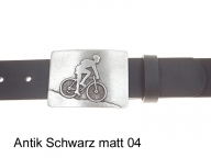 Belt with cyclist belt buckle