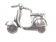 Vespa scooter belt buckle silver-colored