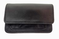 Large black belt bag made of cowhide