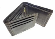 Geldbörse aus naturbelassenen Rindsleder Querformat Farbe Braun