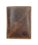 Geldbörse mit Alu Kartenprotektor und großem Münzfach| Leder Vintage Braun