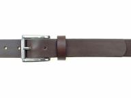 Ledergürtel mit Edelstahl Rollschnalle in 3 cm Breite