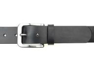 Ledergürtel mit solider Edelstahl Gürtelschnalle in 4 cm Breite