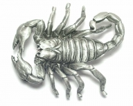 Scorpion buckle, original Great American Buckle, silver coloured