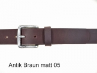 Belt with buckle in antique silver coloured finish 3.5 cm wide