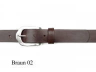 Belt with rounded, antique silver finish buckle