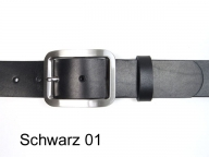 Belt featuring a classic 4cm wide silver coloured satin finish buckle