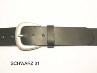 Belt with antique silver coloured rounded buckle, 4 cm wide, nickel-free