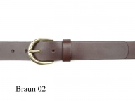 Belt with small round solid brass buckle, nickel-free