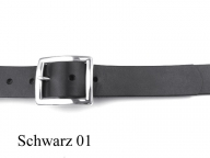 Belt with silver-plated buckle, 3cm wide