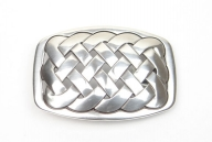 Silver-plated celtic knot buckle