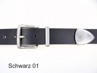 Belt with antique silver finish, 3 part buckle set, 3.5 cm wide
