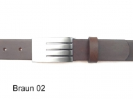 Belt with high quality, silver coloured satin finish buckle
