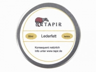 Tapir leather polish 30 ml can, high quality, ecologically manufactured in Germany