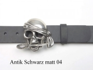 Pirate belt buckle complete with leather belt