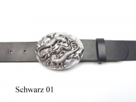 Lizard buckle and leather belt