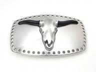 Bulls skull belt buckle