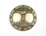 Antique brass coloured tree of life belt buckle